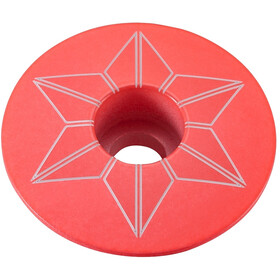 Supacaz Star Capz Ahead Cap Powder-coated hot pink